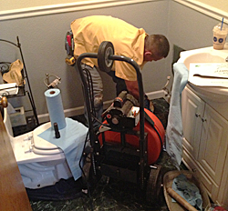 snaking a toilet and other plumbing in Roseville CA